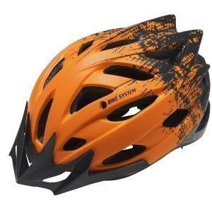 Bike System Ad. Pro-Sport Orange-Black L 56-61 Cm Musta-Oranssi Pyöräilykypärä