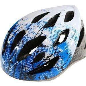Bike System Ad. Sport Splatter L 56-61 Cm Valko-Sininen Pyöräilykypärä