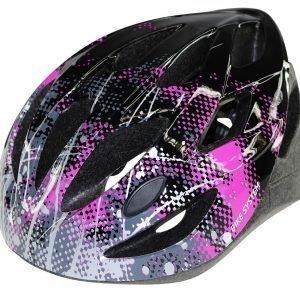 Bike System Ad. Sport Splatter Musta-Pinkki Pyöräilykypärä