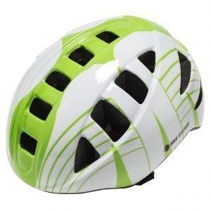 Bike System Adult City White-Green Pyöräilykypärä