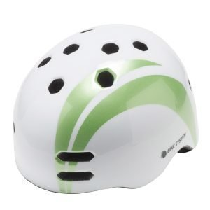 Bike System Adult White Sail Gr.Design Valko-Vihreä Pyöräilykypärä