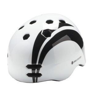 Bike System Adult White Sail Valko-Musta Pyöräilykypärä