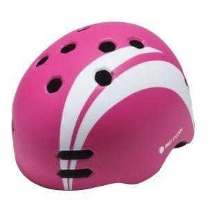Bike System Junior Pink Sail S 50-55 Cm Wh.Design Pinkki-Valkoinen Pyöräilykypärä