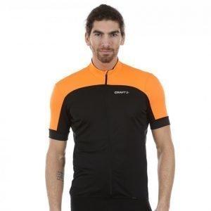 Craft Balance Jersey Pyöräilypaita Musta / Oranssi