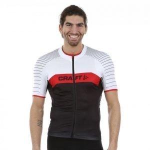 Craft Gran Fondo Jersey Pyöräilypaita Musta / Punainen