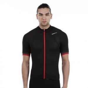 Craft Puncheur Jersey Pyöräilypaita Musta / Punainen