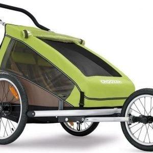 Croozer Kid for 2 pyöräkärry kahdelle lapselle vihreä (2016)