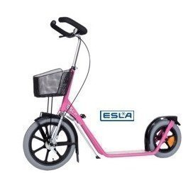 Esla Potkulauta malli 4100 Hybridi pinkki