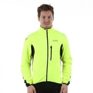 Gore Bike Wear Element Windstopper Soft Shell Jacket Pyöräilytakki Keltainen / Musta