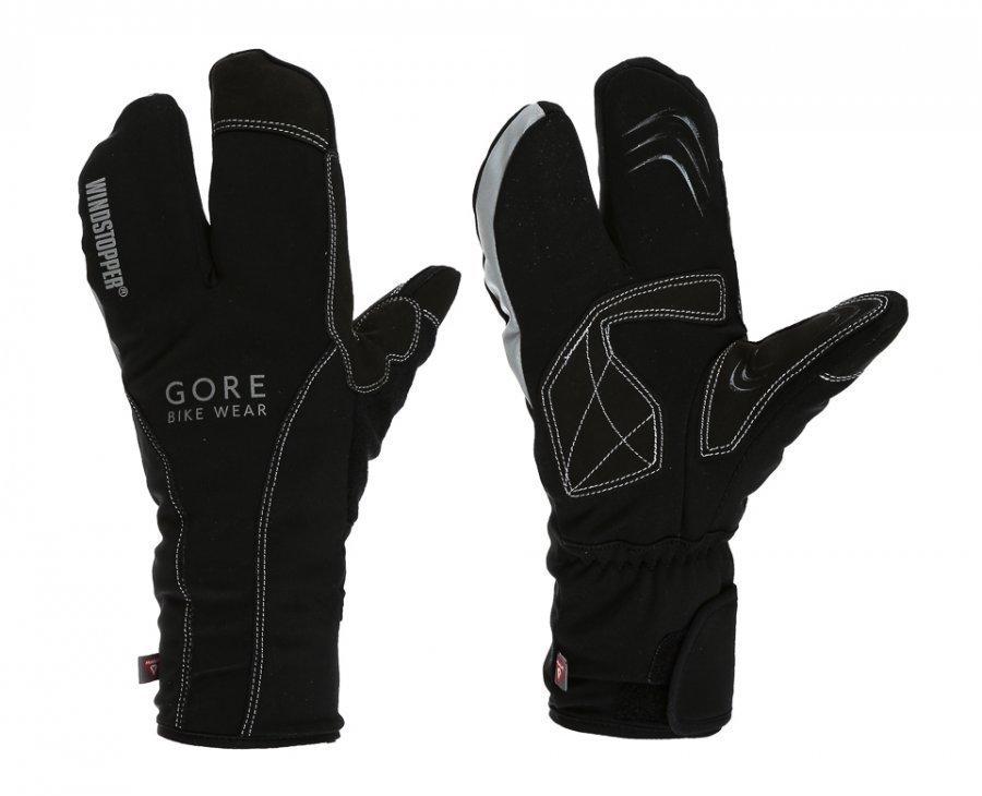 Gore Bike Wear Road Ws Thermo Split Gloves Pyöräilyhanskat Musta