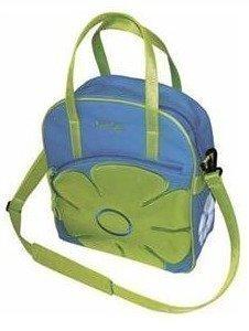 Jasmin ostoslaukku /pyörälaukku sininen/lime