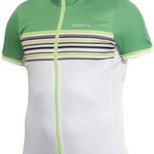 Performance Bike Stripe Jersey M kirkkaan vihreä/valkoinen