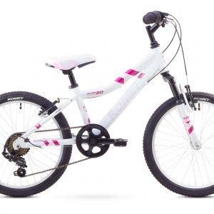Romet Jolene Kid 20'' 6-Vaihteinen Lasten Polkupyörä Valkoinen Roosa