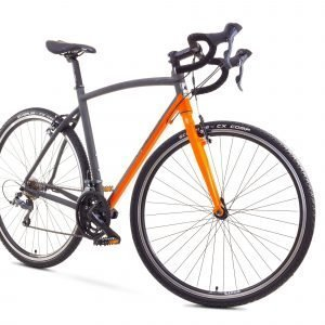 Romet Mistral Cross 28'' 16-Vaihteinen Cyclocross Pyörä Harmaa Oranssi