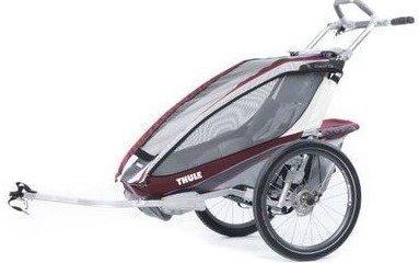 Thule Chariot CX 1 ja pyöräilypaketti (yhdelle lapselle) Burgundin punainen