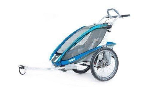 Thule Chariot CX 1 ja pyöräilypaketti (yhdelle lapselle) Sininen