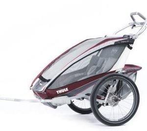 Thule Chariot CX2 pyöräkärry kahdelle lapselle punainen + pyöräilypaketti