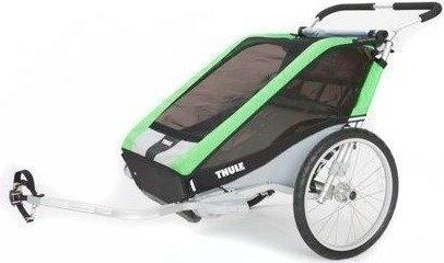 Thule Chariot Cheetah 2 (kahdelle lapselle) + pyöräilypaketti