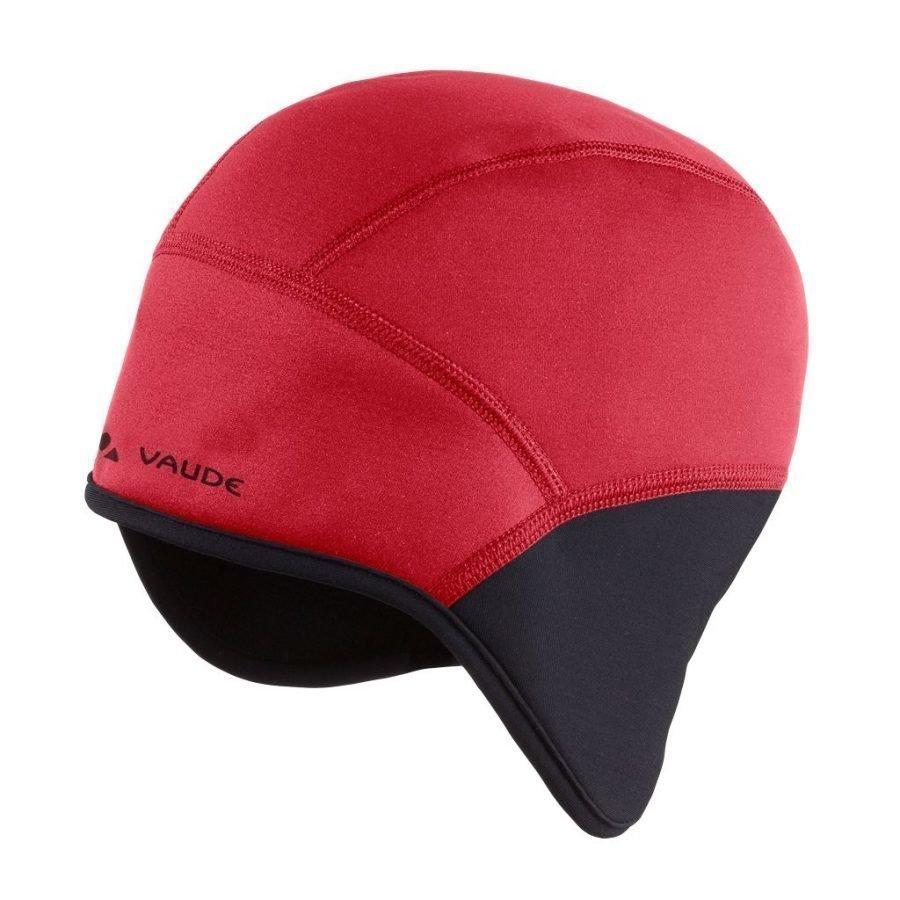 Vaude Bike windproof cap III pyöräily- ja tuulensuojapipo punainen/musta