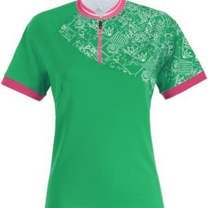 Vaude Women's Ican Shirt Pyöräilypaita Vihreä