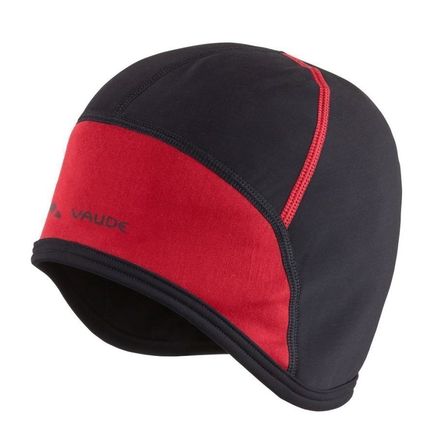 Vaude bike cap pyöräilypipo musta/punainen